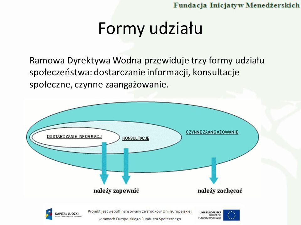 Formy udziału Zgodnie z dyrektywą należy zapewnić dwie pierwsze z wyżej wymienionych form udziału, zaś do ostatniej z nich należy zachęcać.
