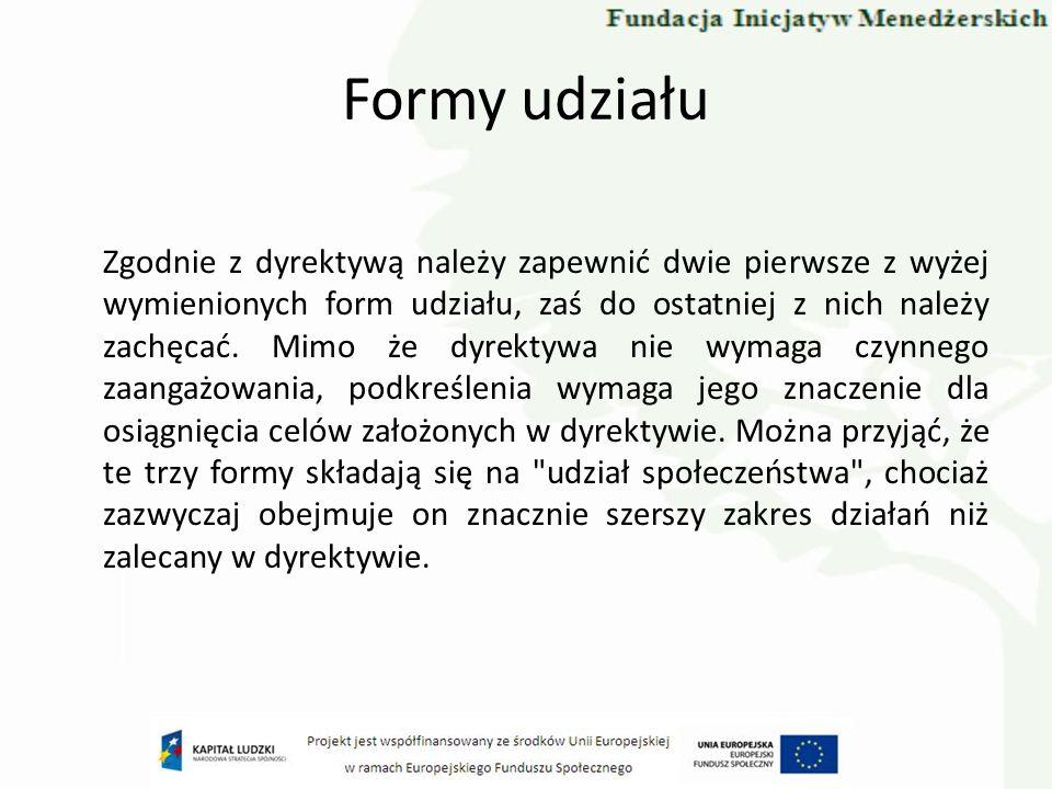 Inne przykłady … Dolina Rozpudy Lotnisko w Świdniku Farmy wiatraków Elektrownie w Dunajcu Zakaz wjazdu pojazdów nie spełniających wymogów środowiskowych do centów miast (Niemcy, Wielka Brytania) Lotnisko we Frankfurcie Kraków – Budowa spalarni