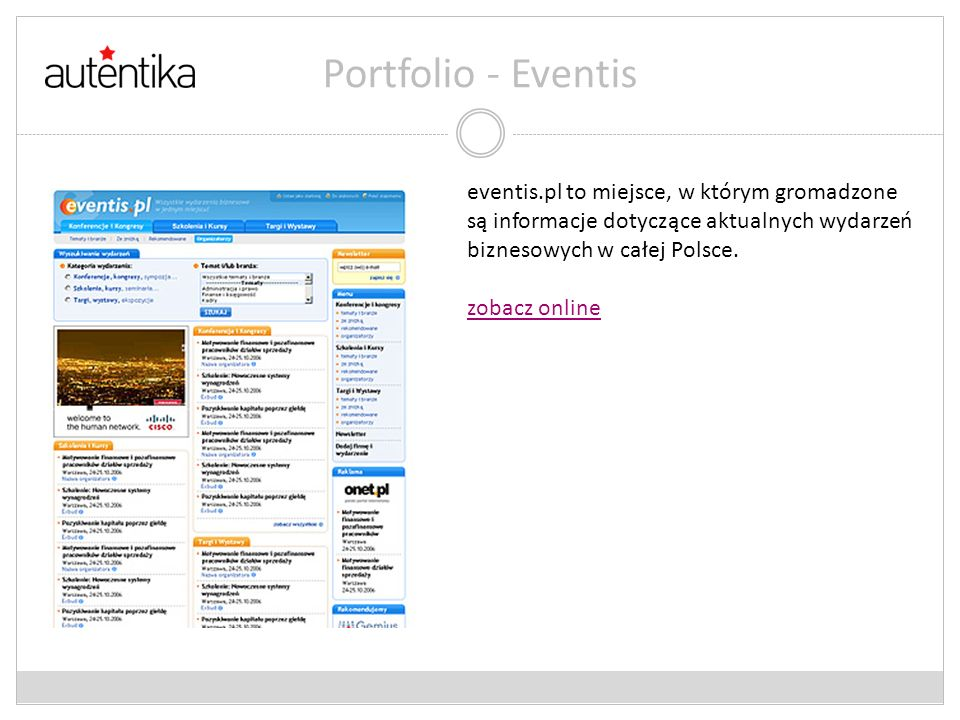 Portfolio – Web Search Factory W maju 2007 r.