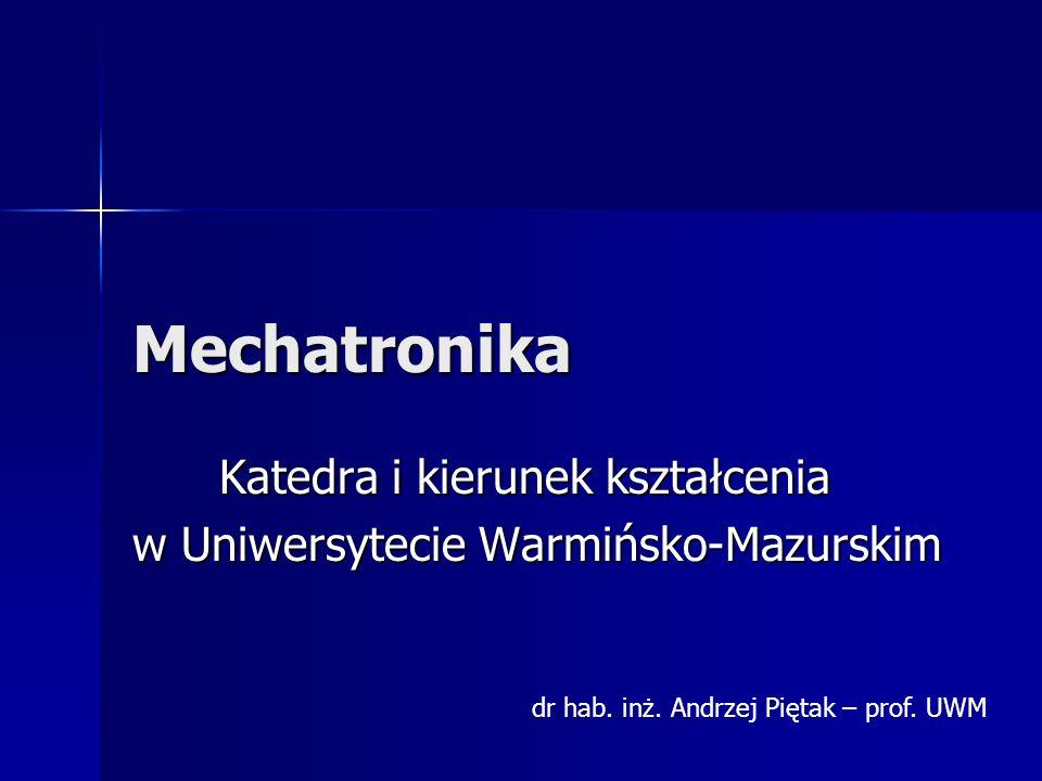 Czym jest mechatronika.