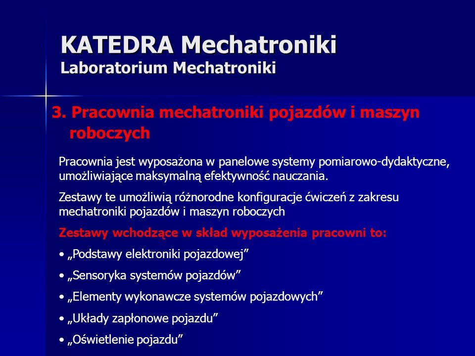 KATEDRA Mechatroniki Laboratorium Mechatroniki 3.