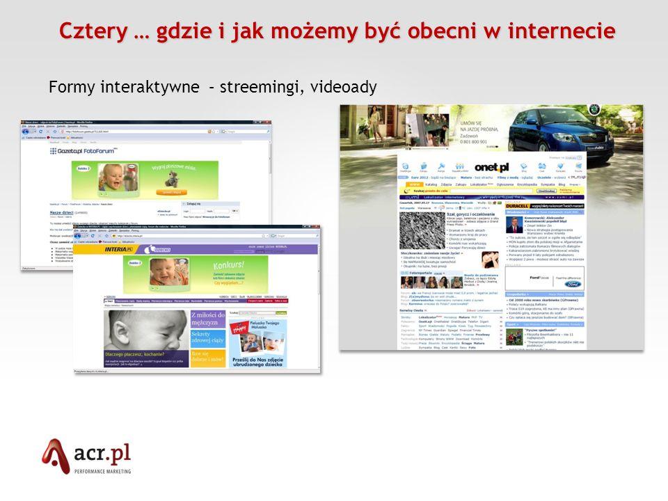 Cztery … gdzie i jak możemy być obecni w internecie Cztery … gdzie i jak możemy być obecni w internecie Formy bezpośrednie – mailing, newslettery