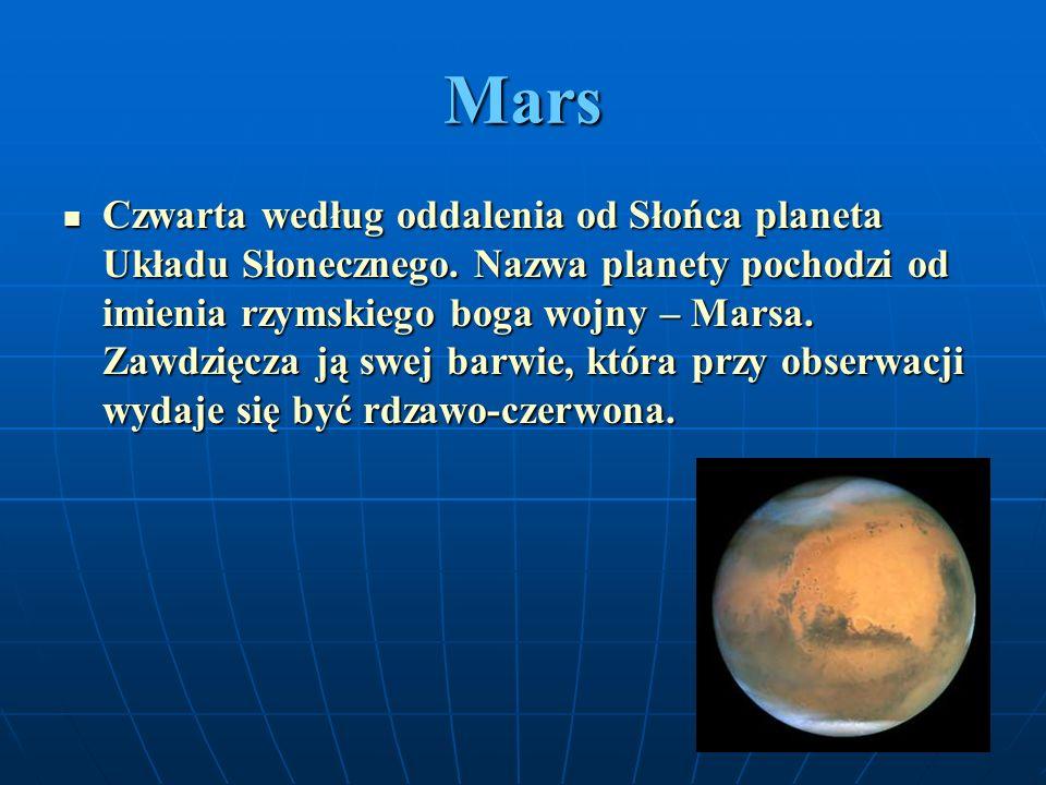 Jowisz Piąta w kolejności oddalenia od Słońca i największa planeta Układu Słonecznego.