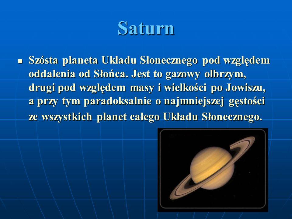 Uran Siódma w kolejności od Słońca planeta Układu Słonecznego.
