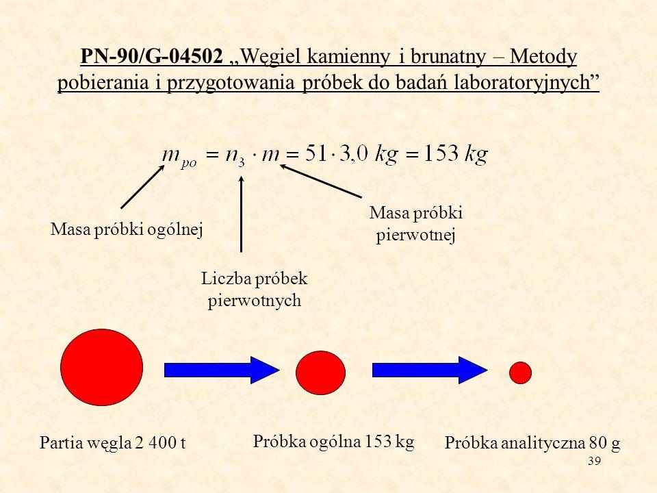 40 PN-90/G-04502 Węgiel kamienny i brunatny – Metody pobierania i przygotowania próbek do badań laboratoryjnych Przygotowanie próbek laboratoryjnych węgla Etapy przygotowania próbki laboratoryjnej: rozdrabnianie (do uziarnienia <10mm lub <3mm), mieszanie (mechaniczne lub ręczne), pomniejszanie (mechaniczne lub ręczne), dzielenie na wymaganą liczbę próbek laboratoryjnych