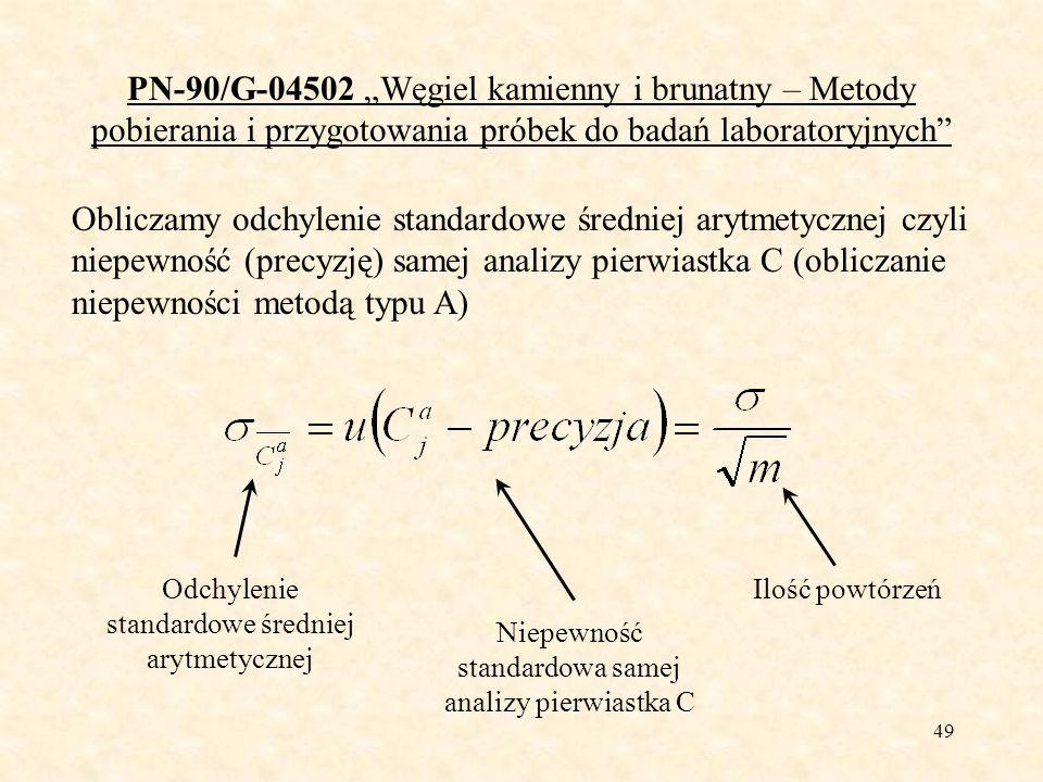 50 PN-90/G-04502 Węgiel kamienny i brunatny – Metody pobierania i przygotowania próbek do badań laboratoryjnych