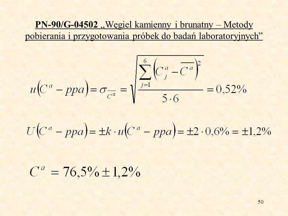 51 PN-ISO 13909-1: 2004 Węgiel kamienny i koks – Mechaniczne pobieranie próbek.