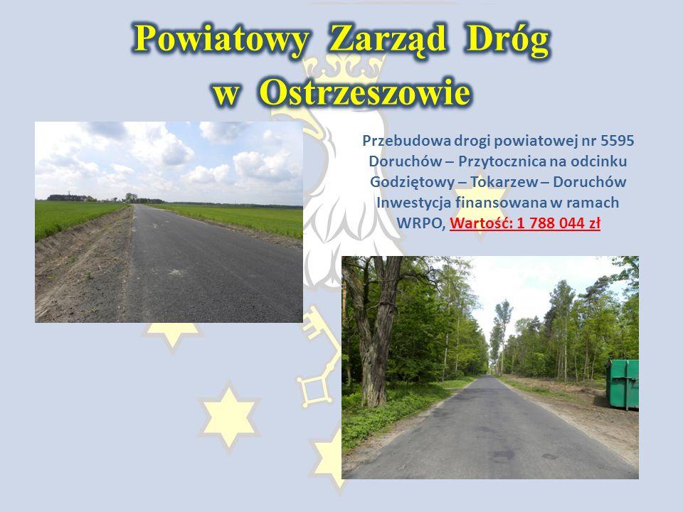 Budowa ciągu pieszo – rowerowego Myje – Potaśnia - Ostrzeszów Inwestycja finansowana w ramach NPPDL, Wartość: 2 313 142 zł