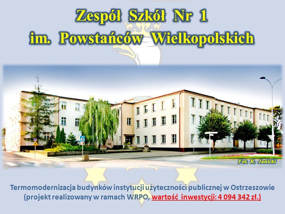 Termomodernizacja budynków instytucji użyteczności publicznej w Ostrzeszowie (projekt realizowany w ramach WRPO wartość inwestycji: 4 094 342 zł.)