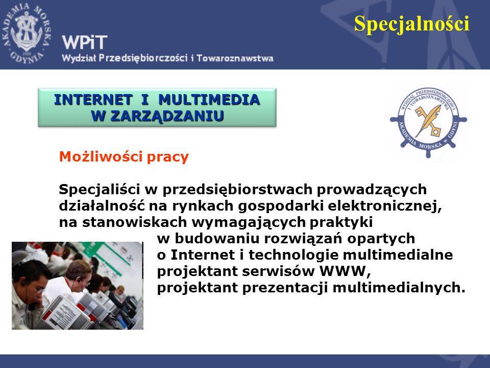 Specjalności Możliwości pracy Specjaliści w zakresie: wdrażania nowoczesnych technologii informacyjnych w instytucjach i urzędach administracji publicznej, administrowania danymi osobowym, zarządzania bezpieczeństwem informacji, projektowania i zarządzania serwisami informacyjnymi.