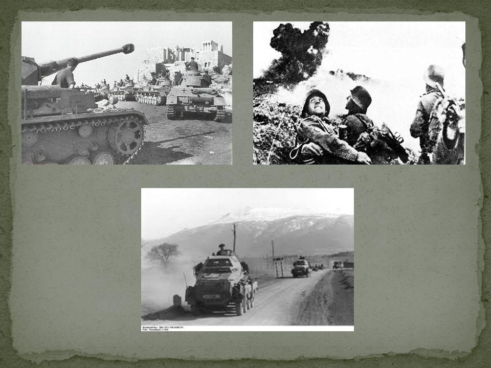 Mimo bohaterskiej obrony Grecy zaczynają ulegać przewadze wroga.O świcie 8 kwietnia 1941 nadchodzą z Jugosławii niemiecka 2.