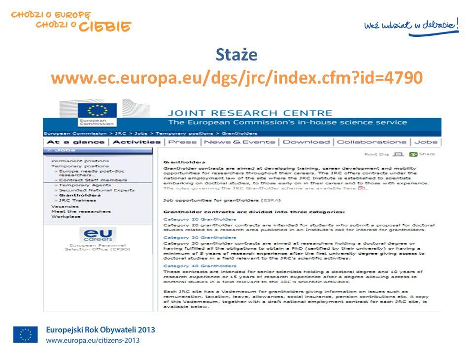 STAŻE W KE www.ec.europa.eu/stages/about/who_en.htm