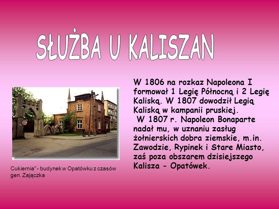 W roku 1824 gen.Józef Zajączek zawarł kontrakt z mieszkańcami Opatówka.