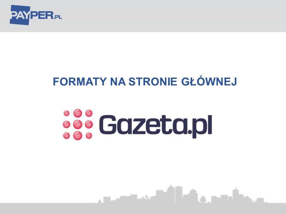 Balkonik statyczny 620x40px 120 Format: Banner 620x40 PX Miejsce emisji: Strona główna Gazeta.pl Max waga: 8 KB Model emisji: CPC Uwagi: format używany okresowo w ramach dostępności powierzchni