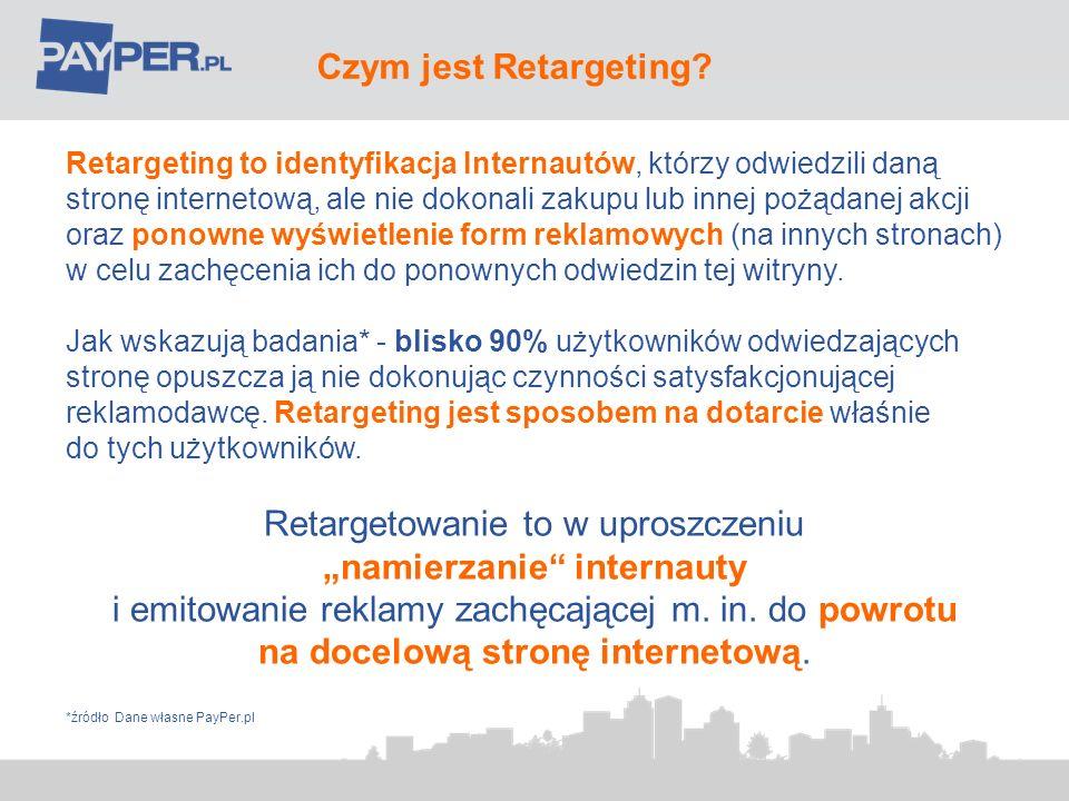 Retargeting kampanii CPC Korzyści dla Klienta: doskonałe uzupełnienie regularnej kampanii CPC; brak dodatkowych kosztów związanych z używaniem nowej technologii; raportowanie w czasie rzeczywistym; wzrost konwersji i jakości ruchu o ponad 50%