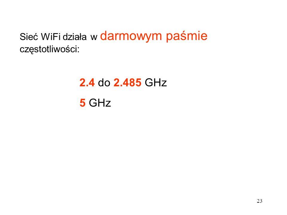 24 W wielu krajach na świecie dostęp do sieci WiFi jest bezpłatny - firmy i instytucje (posiadające nadmiarowe łącza internetowe) - nadajniki WiFi - udostępniają sieć za darmo W Polsce rozdawanie Internetu przez firmy jest naruszeniem prawa skarbowego (podatek VAT) Firma, która chce świadczyć usługi dostępu do internetu powinna zgłosić ten fakt do UKE - Urzędu Komunikacji Elektronicznej.