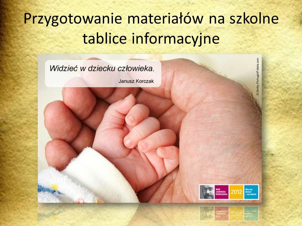 Przygotowanie materiałów na szkolne tablice informacyjne