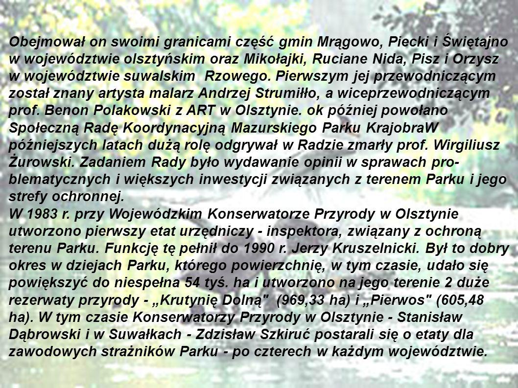 W czerwcu 1985 roku z inicjatywy Jerzego Kruszelnickiego odbyło się w Olsztynie plenarne posiedzenie Komitetu Ochrony Przyrody Polskiej Akademii Nauk w sprawie przyspieszenia prac nad utworzeniem Mazurskiego Parku Narodowego.