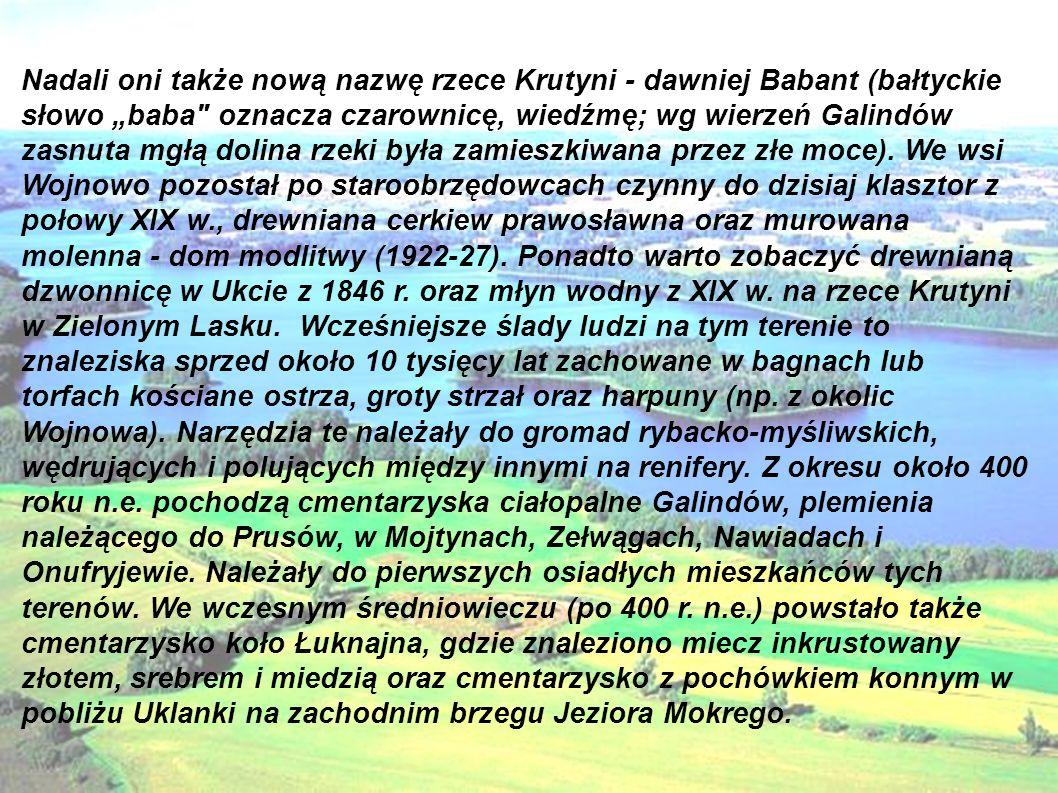 Przy południowym brzegu tego jeziora w Ławnym Lasku odnaleziono ślady osady.