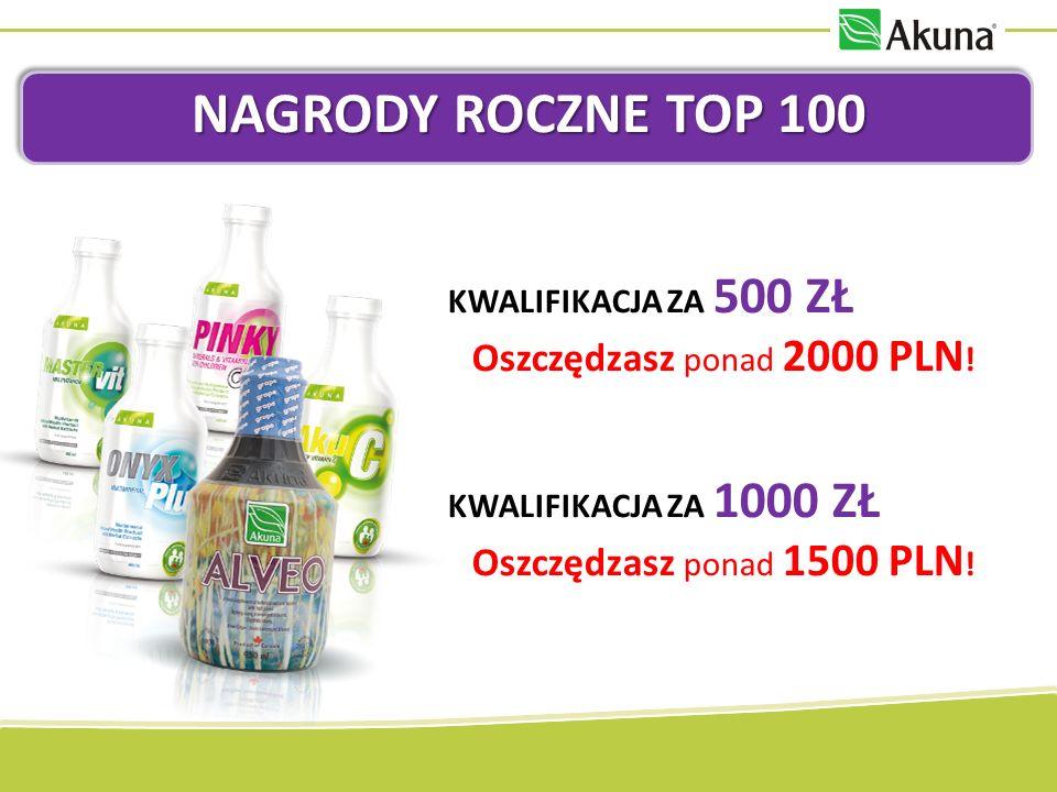 NAGRODY ROCZNE TOP 100 ZNIŻKA NA TRANSPORT Aż 600 zł do wykorzystania na koszty transportu w ciągu całego roku 2013.