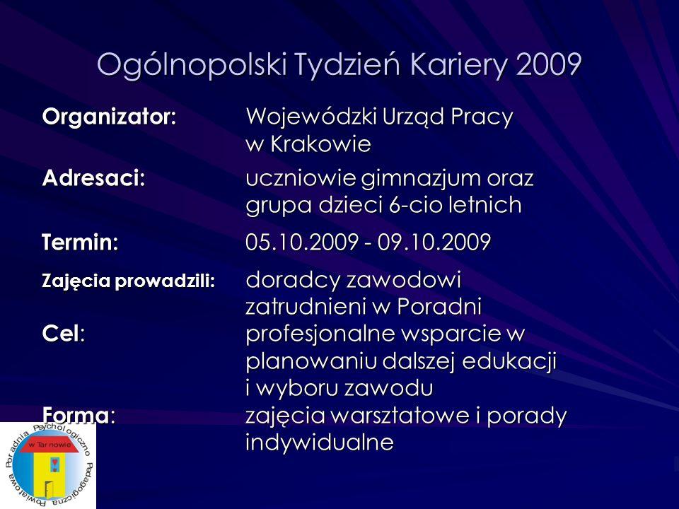Ogólnopolski Tydzień Kariery 2009