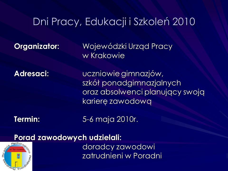 Dni Pracy, Edukacji i Szkoleń 2010