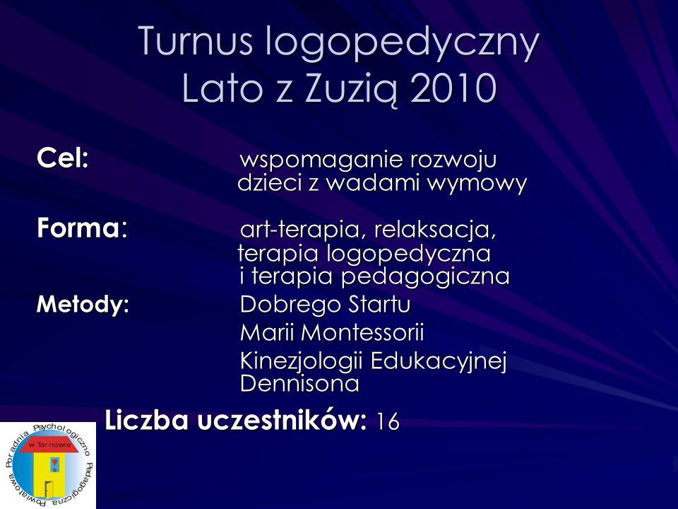 Turnus logopedyczny Lato z Zuzią 2010