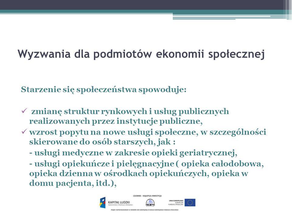 Wyzwania dla podmiotów ekonomii społecznej c.d.