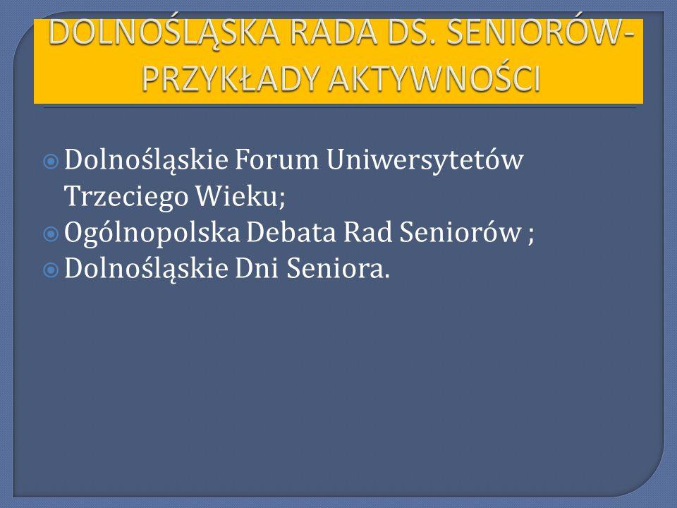 Wrocławska Rada ds.Seniorów I kadencji rozpoczęła program nt.