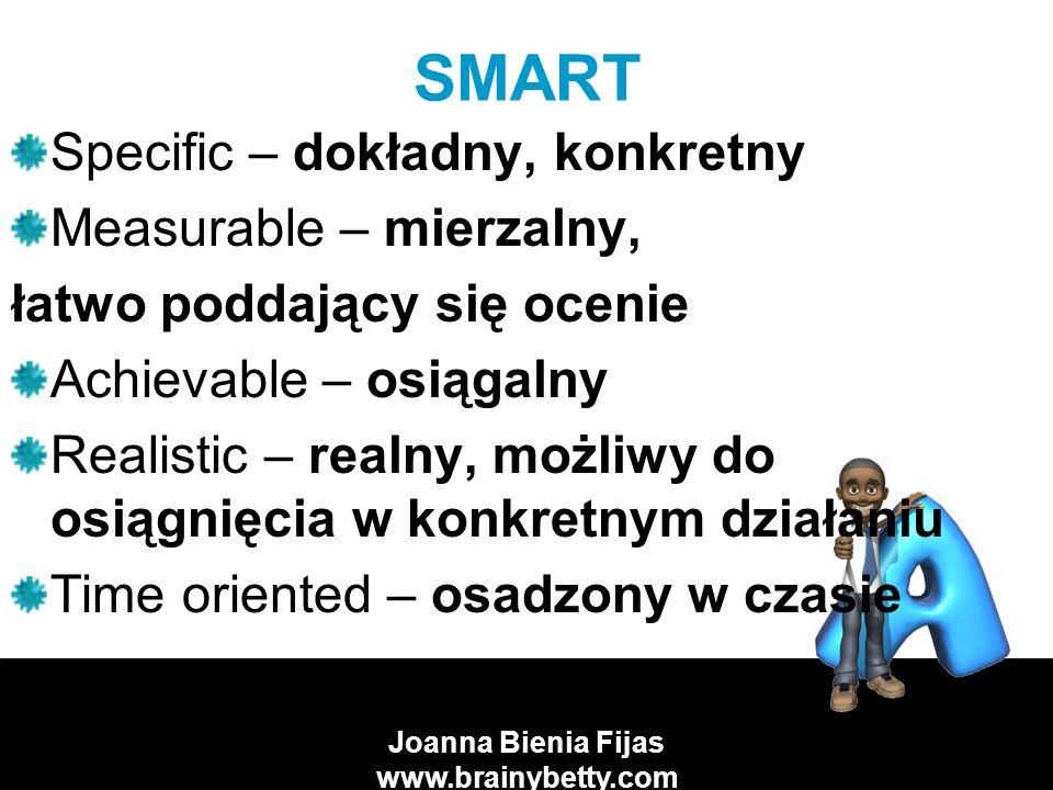 Joanna Bienia Fijas www.brainybetty.com JAKIE POWINNY BYĆ CELE.