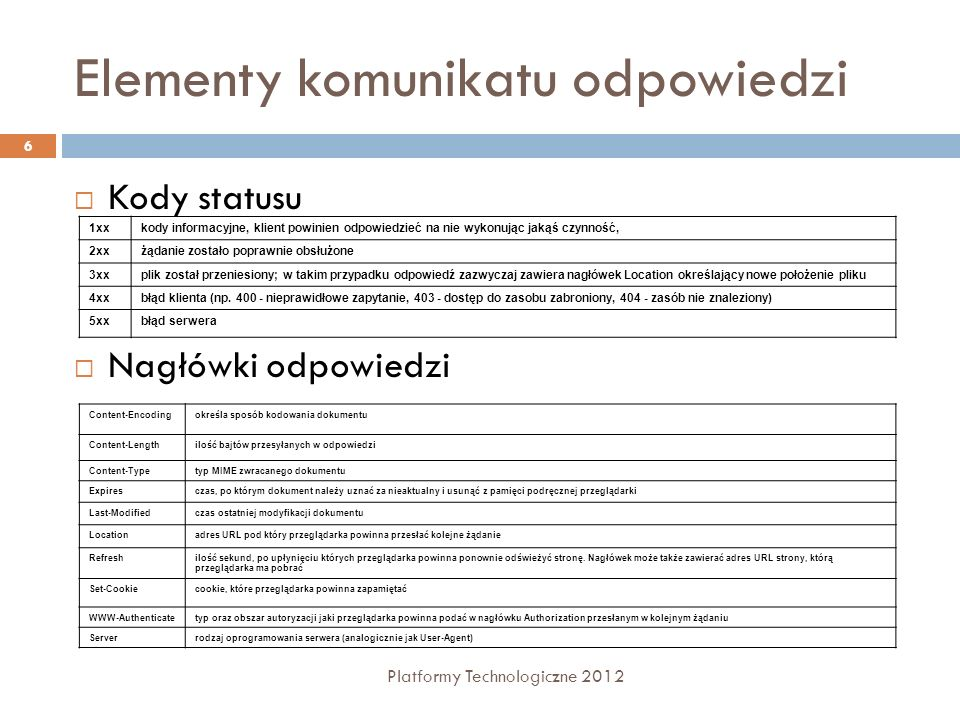 Aplikacje ASP.NET Platformy Technologiczne 2012 7 Obiektowe środowisko projektowania dynamicznych aplikacji WWW Rozdzielenie projektowania prezentacji strony od kodu logiki biznesowej (logika strony) Użycie komponentów dostarczanych przez.NET Framework - kontrolki Web, HTML działające po stronie serwera Kod strony jest kompilowany przy pierwszym żądaniu strony ASP.NET (.aspx) Możliwość użycia języków programowania VB.NET, C# Organizacja UI - strony główne i strony z treścią Zarządzanie stanem, bezpieczeństwem Aplikacja ASP.NET może składać się elementów: Formularze Internetowe (Web Form) – pliki z rozszerzeniem (.aspx) Usługi Web (Web services) – pliki z rozszerzeniem (.asmx) Pliki logiki aplikacji – pliki z rozszerzeniem (.vb lub.cs) Globalnej klasy aplikacji (.asax) Pliku konfiguracyjnego Web.config innych pliki typu: strona HTML, arkusz CSS Web Client Operating System ASP.NET Applications IIS Asp.Net Engine.NET Framework HTTP