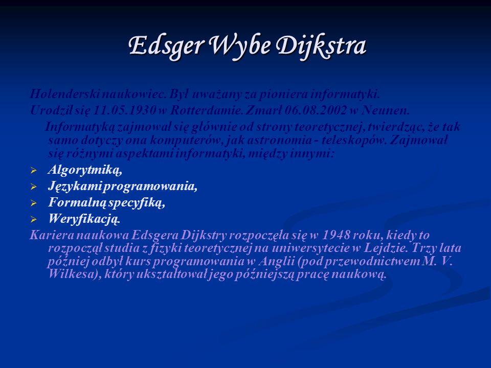 Początkowo Dijkstra pracował w amsterdamskim Centrum Matematycznym, gdzie zajął się programowaniem ówczesnych maszyn z serii ARRA, jednak w 1956 roku przeniósł swoje główne zainteresowania do firmy Electrologica, której był współtwórcą.