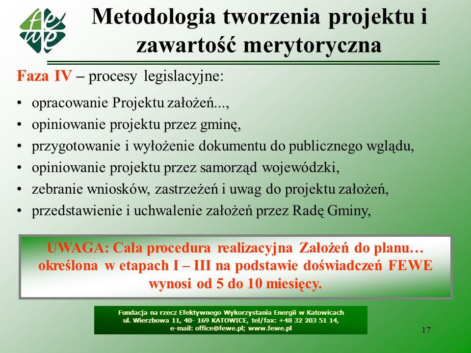 18 Pochodne planowania, czyli programy wdrożeniowe Fundacja na rzecz Efektywnego Wykorzystania Energii w Katowicach ul.