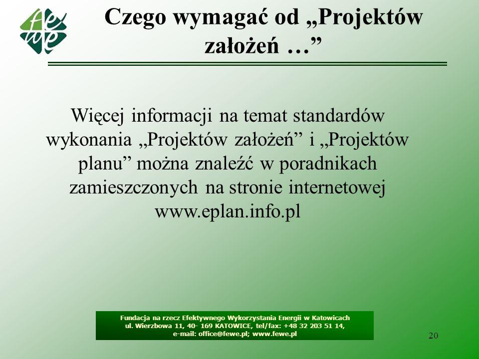 21 Fundacja na rzecz Efektywnego Wykorzystania Energii w Katowicach ul.