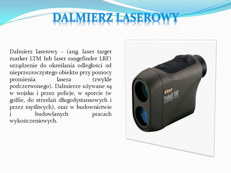 Dalmierz laserowy – (ang.