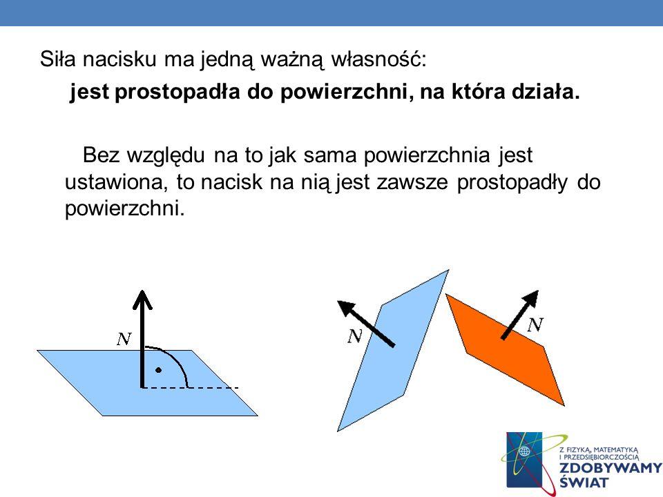 Szczególnym rodzajem siły nacisku jest siła reakcji podłoża Jeśli siła nacisku działa ze strony podłoża na ciało na tym podłożu spoczywające (lub poruszające się) to nazywamy ją siłą reakcji podłoża.