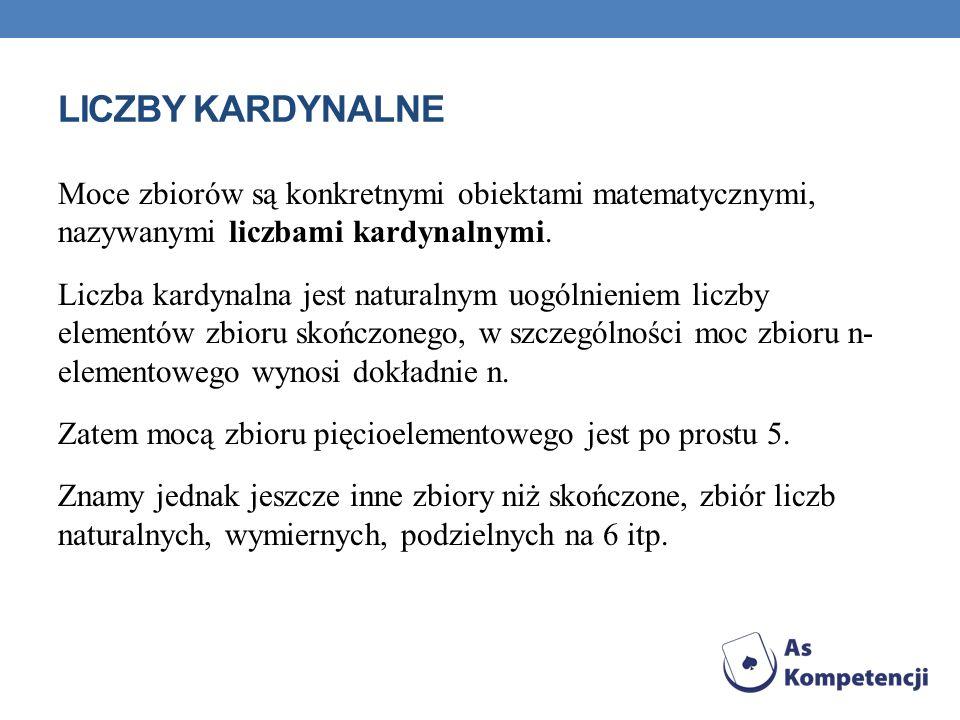 ZBIORY RÓWNOLICZNE ZE ZBIOREM LICZB NATURALNYCH 1.