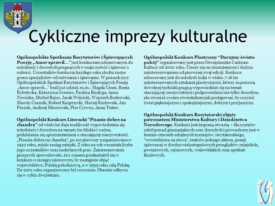 Cykliczne imprezy kulturalne Ogólnopolskie Spotkania Recytatorów i Śpiewających Poezję Amor sprawił...