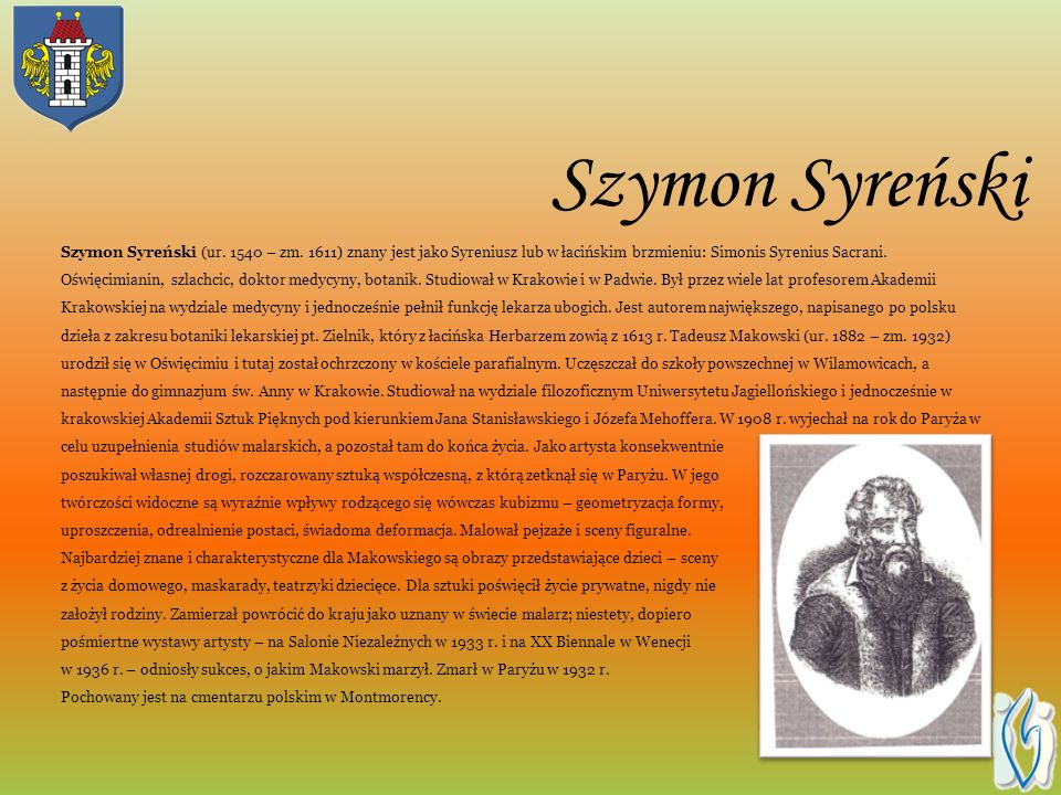 Szymon Syreński Szymon Syreński (ur.1540 – zm.