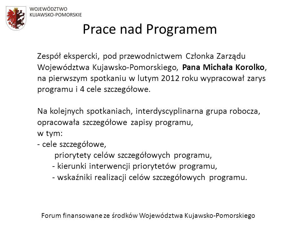 Kolejne kroki nad programem Wstępny projekt programu został przyjęty przez Zarząd Województwa Kujawsko-Pomorskiego w dniu 28 grudnia 2012 r.