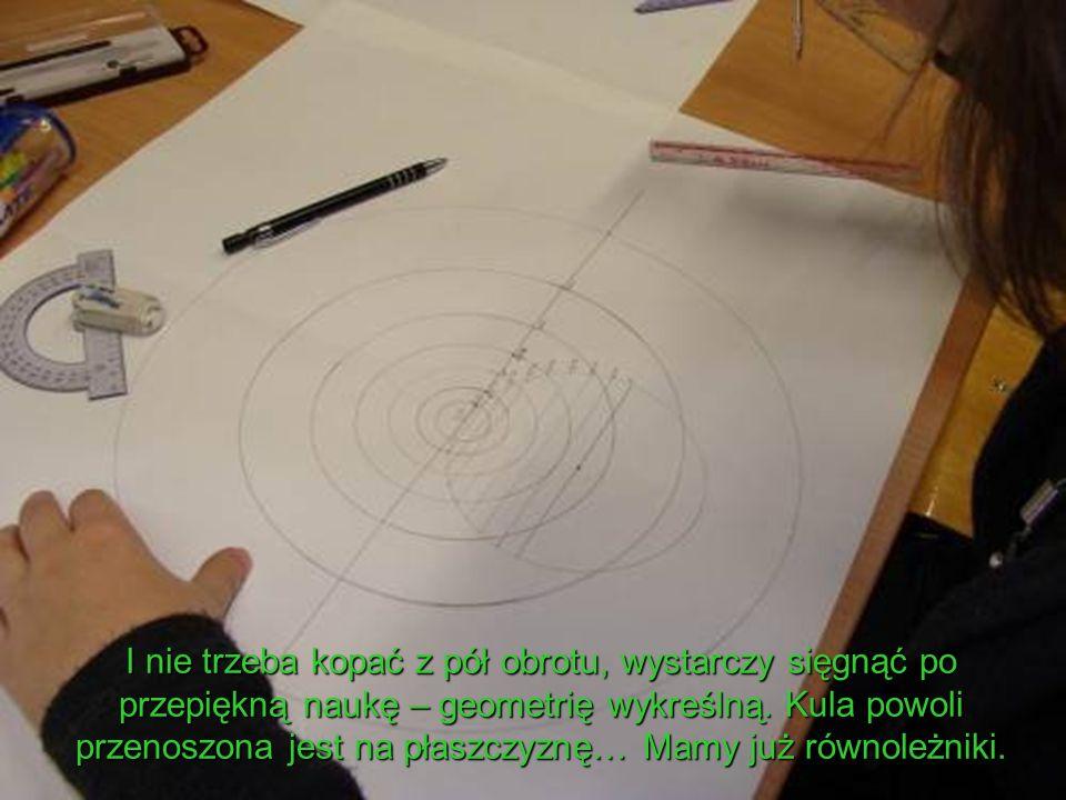 I nie trzeba kopać z pół obrotu, wystarczy sięgnąć po przepiękną naukę – geometrię wykreślną.