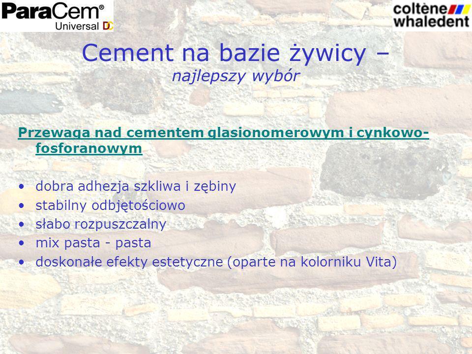 Cementowanie wkładów z włókna szklanego Korony i mosty Inlays & Onlays odbudowa rdzenia Licówki Uniwersalny cement