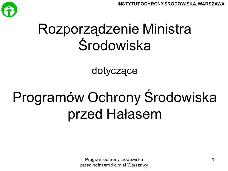 Program ochrony środowiska przed hałasem dla m.st.Warszawy 2 Art.