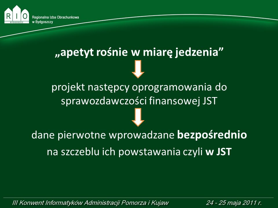 2000 rok elektroniczne przekazywania danych z JST jednostki samorządu terytorialnego regionalne izby obrachunkowe Ministerstwo Finansów