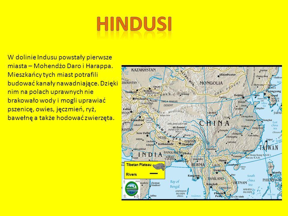 Osiągnięcia Hindusów: 1.Cytadela – twierdza, w której mieszkał władca w zachodniej części, a we wschodniej budowano mieszkania, place i spichlerze.