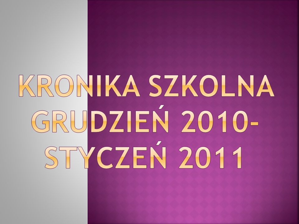 Koncert kolęd 13 GRUDNIA 2010 ROKU ODBYŁ SIĘ SZKOLNY KONCERT KOLĘD.