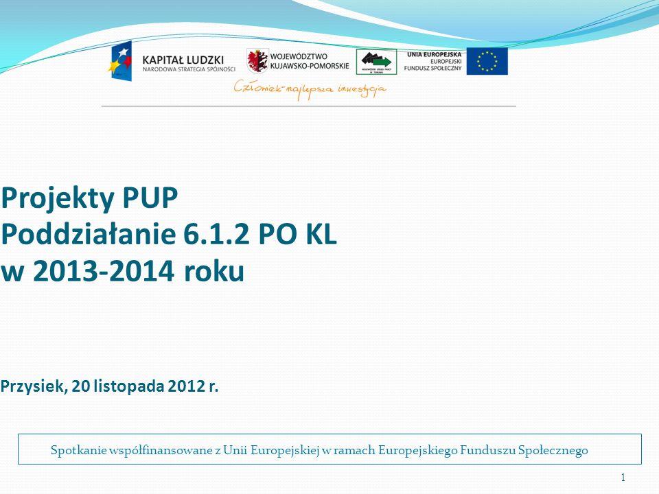 2 Poddziałanie 6.1.2 Terminy: 1) Ogłoszenie konkursu – 23.11.2012 r.