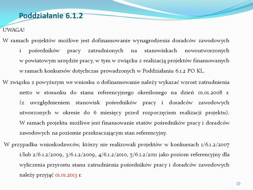 11 Poddziałanie 6.1.2 UWAGA.