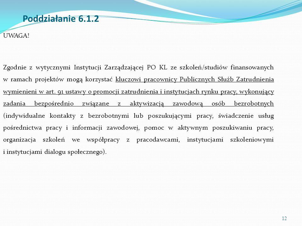 13 Poddziałanie 6.1.2 UWAGA.