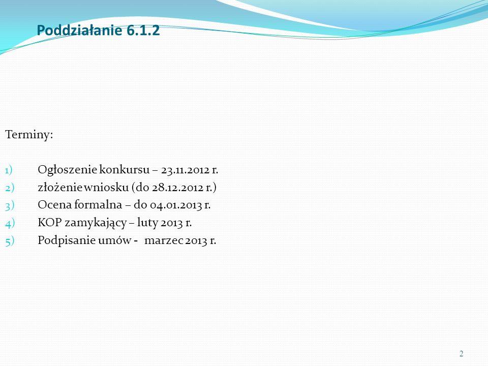 3 Poddziałanie 6.1.2 Celem ogłoszenia konkursu w ramach Poddziałania 6.1.2 jest wyłonienie projektów, których realizacja spowoduje zwiększenie dostępności, jakości i efektywności usług w zakresie pośrednictwa pracy i poradnictwa zawodowego świadczonych na rzecz osób bezrobotnych i poszukujących pracy realizowanych przez Publiczne Służby Zatrudnienia w poszczególnych powiatach województwa kujawsko-pomorskiego.